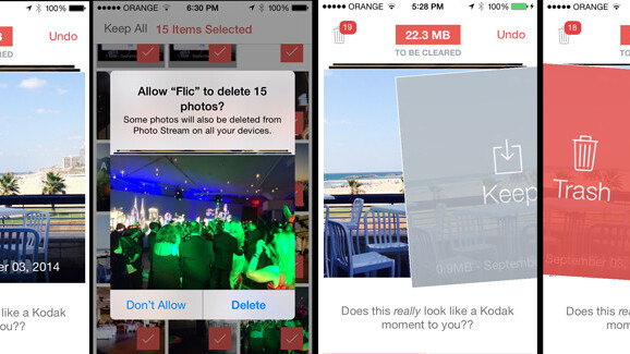 A Flic of the finger lets you manage your iPhone photo collection