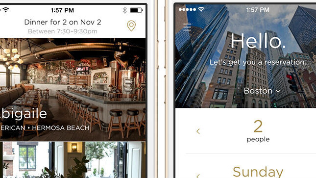 Reserve is a concierge-like service for booking restaurants and paying the check