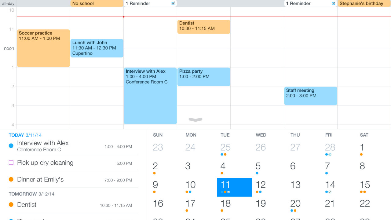 Fantastical's iOS apps get a Today widget, interactive notifications and app extension support
