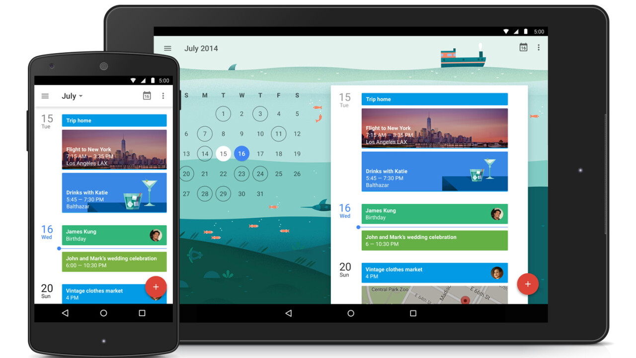 Google releases redesigned, smarter Android Calendar and Gmail apps