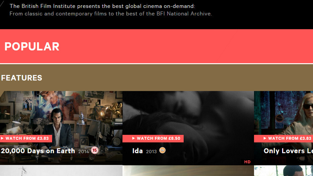 BFI revamps its on-demand platform for indie movies