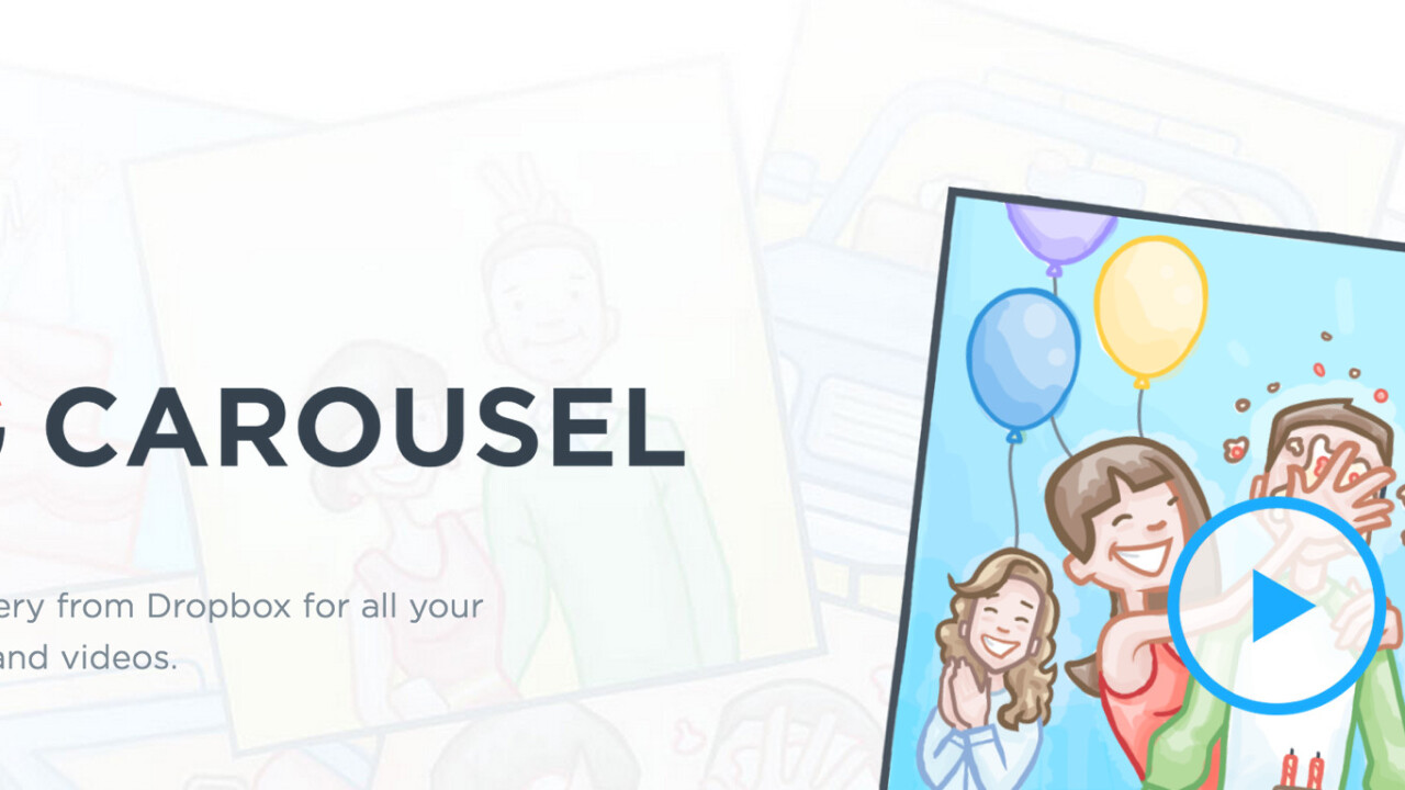 Dropbox's Carousel tests managing space on your device by deleting photos it's backed up