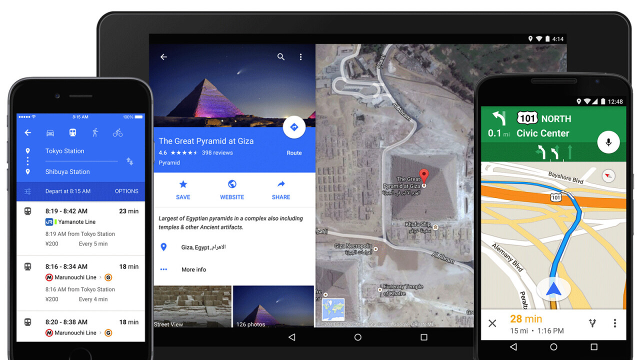 Google Maps gets a fresh new Material Design on mobile and deeper Uber integration