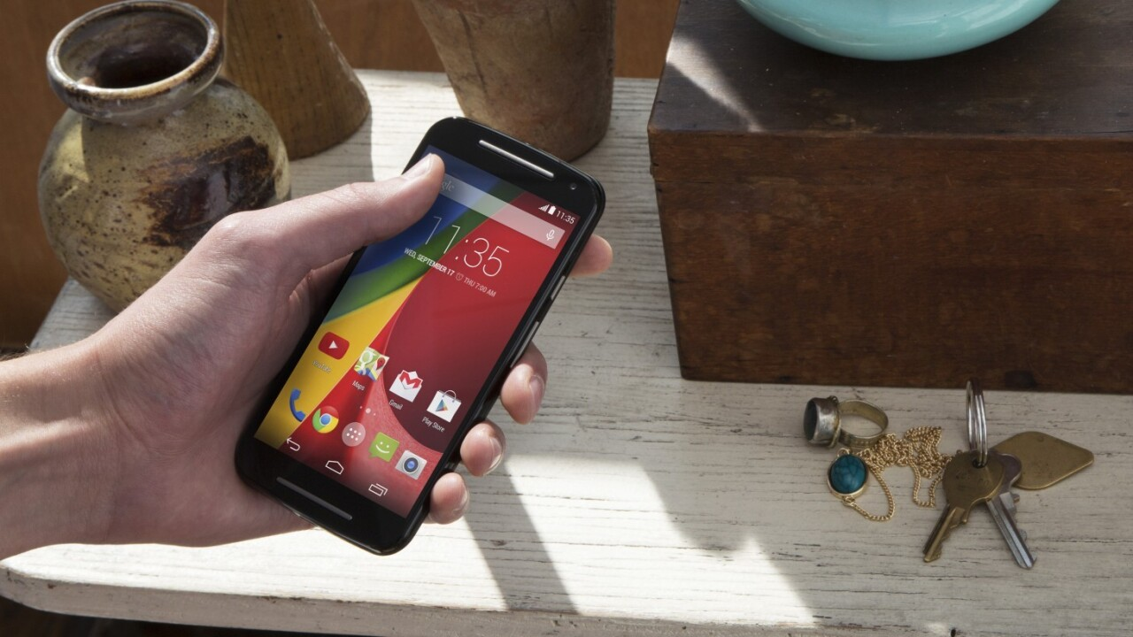 The Moto G is the first Android device to receive a Lollipop update