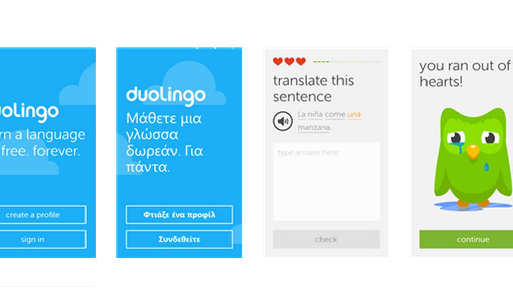 Duolingo brings its language learning app to Windows Phone