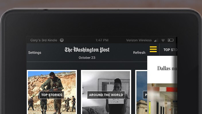 Jeff Bezos' Washington Post launches tablet app free for Amazon Fire owners