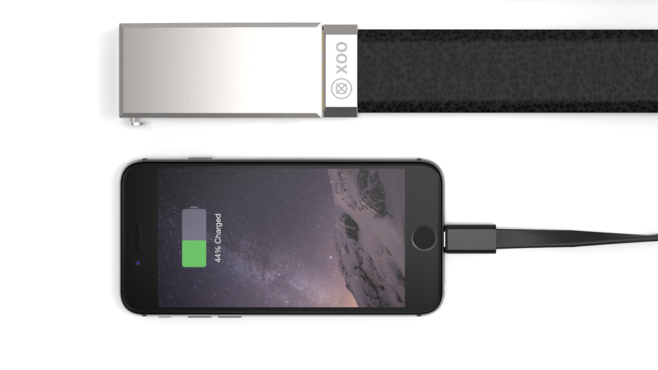 This belt charges your smartphone and keeps your trousers up at the same time