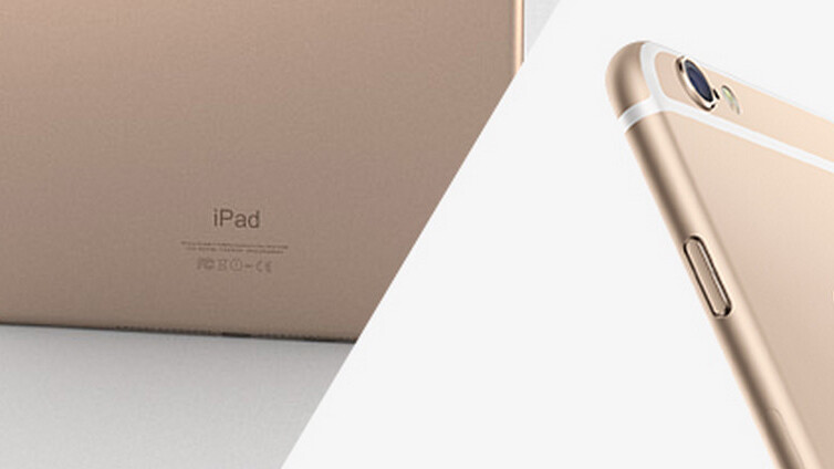 We're giving away a gold iPhone 6 and iPad Air 2 – come and get them!