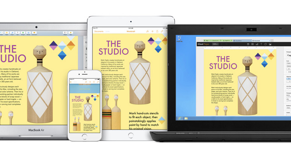 iWork for iCloud update adds 8 languages, 50 new fonts and improved editing