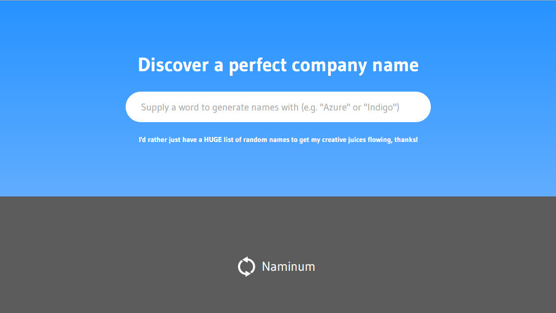 The best business name generator: Naminum