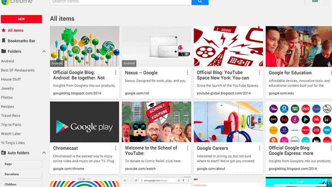 You'll soon be able to add images and notes to Google Chrome bookmarks