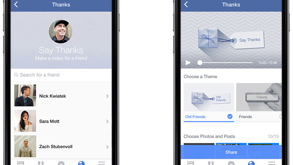 Facebook launches a tool for sending personalized thank you videos