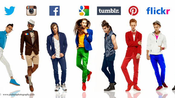 What would Twitter look like as a man? Fashion photographer personifies 8 social networks