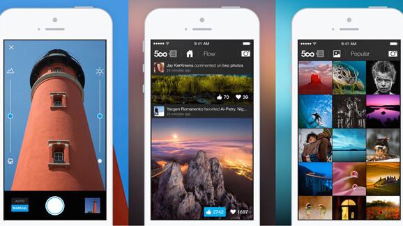 500px iOS app update debutsa new camera and Adobe photo editing tools