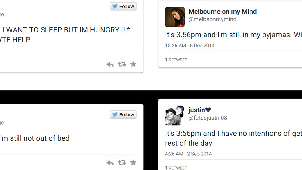 Tell the time with other people's tweets and this Twitter-powered clock