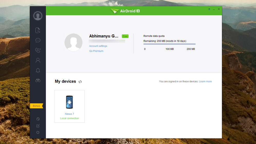 AirDroid lets you control your Android device with a desktop app