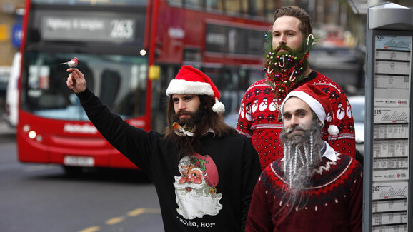 Holiday beard edges out the ugly sweater for festive silliness