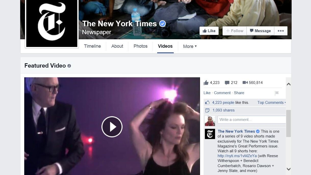 Facebook Pages are getting an updated video section design to take on YouTube