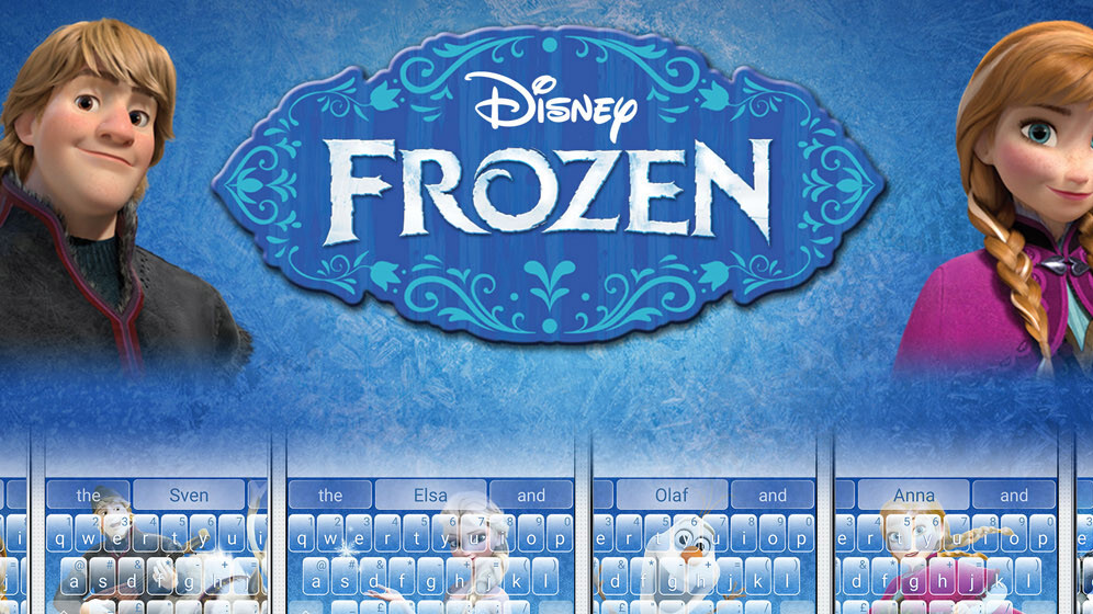 SwiftKey launches branded keyboard themes on Android, beginning with 'Frozen'