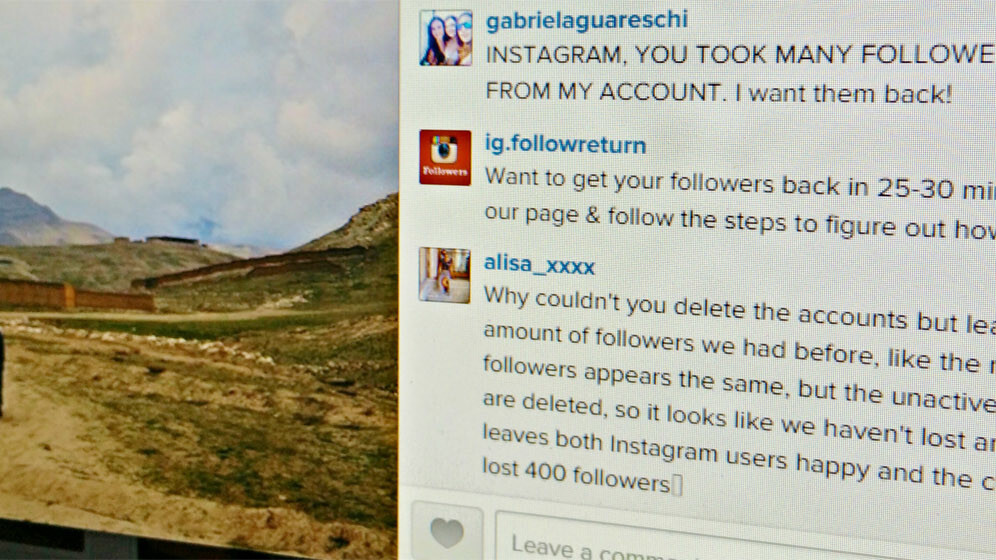 Follower counts plummet after Instagram deletes millions of spam accounts, vain users outraged