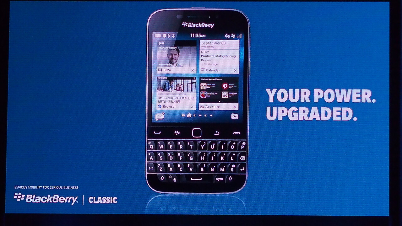 BlackBerry announces the Classic, a $450 QWERTY-toting smartphone focused on productivity