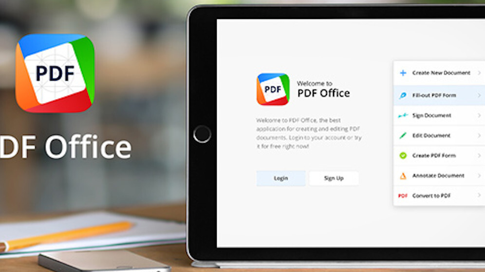Readdle's PDF Office for iPad turns images into editable forms