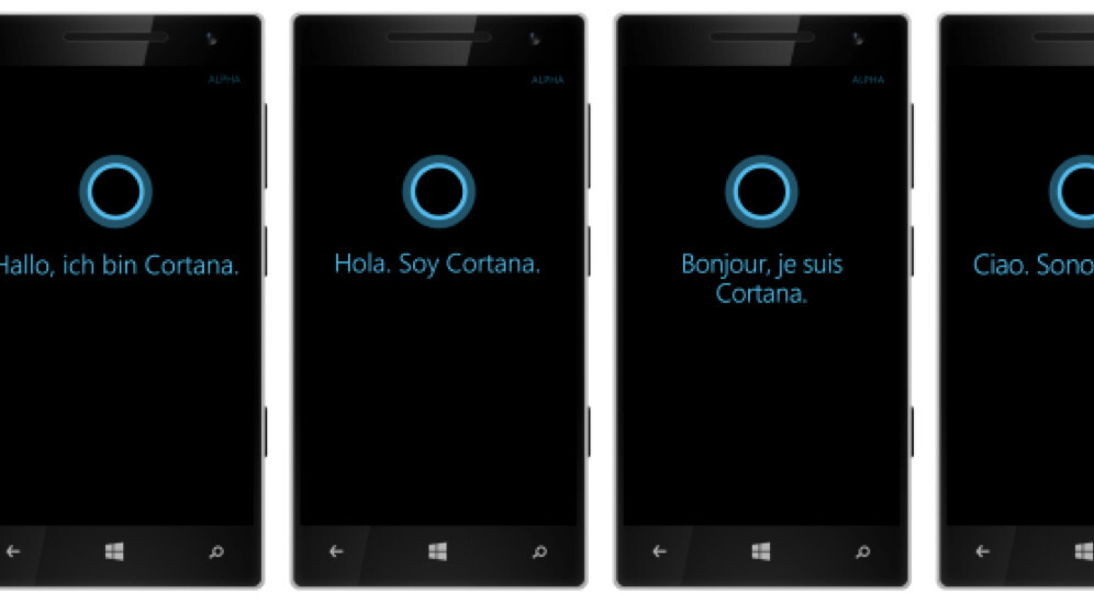 Microsoft's Cortana virtual assistant is coming to France, Germany, Spain and Italy