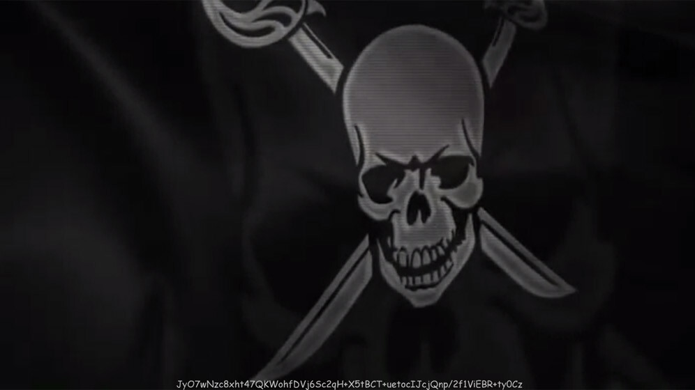 Is that an encryption key on The Pirate Bay homepage?