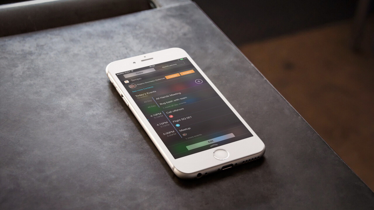 Tempo for iOS updated with new widget, notifications and languages