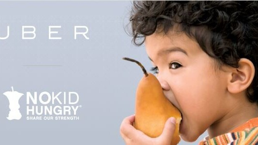 Uber introduces charitable donations with No Kid Hungry partnership