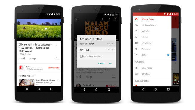 YouTube for Android brings offline playback to India, Indonesia and the Philippines