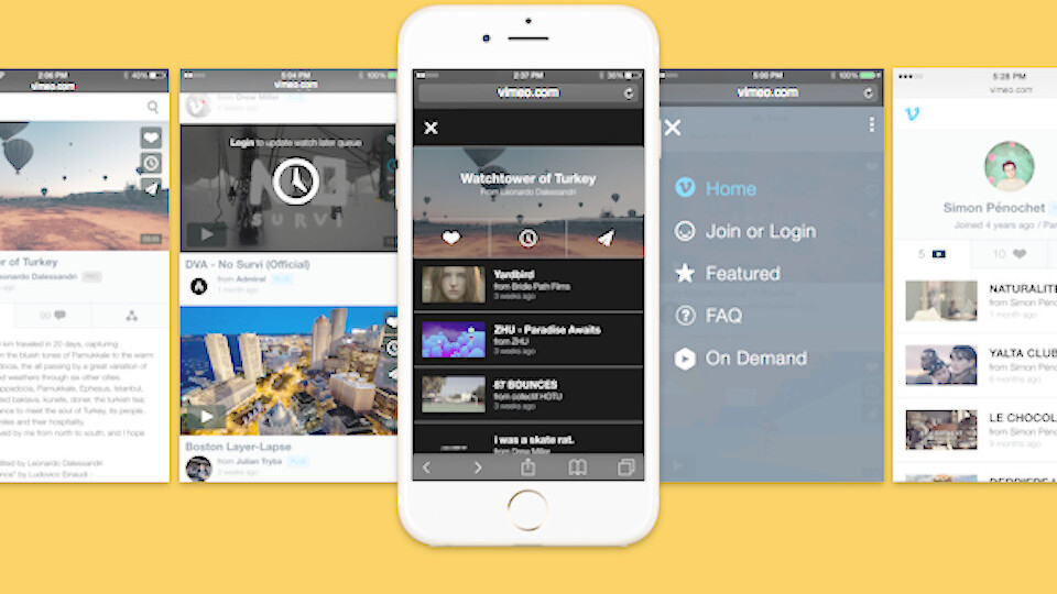 Vimeo launches new mobile site with Watch Later feature