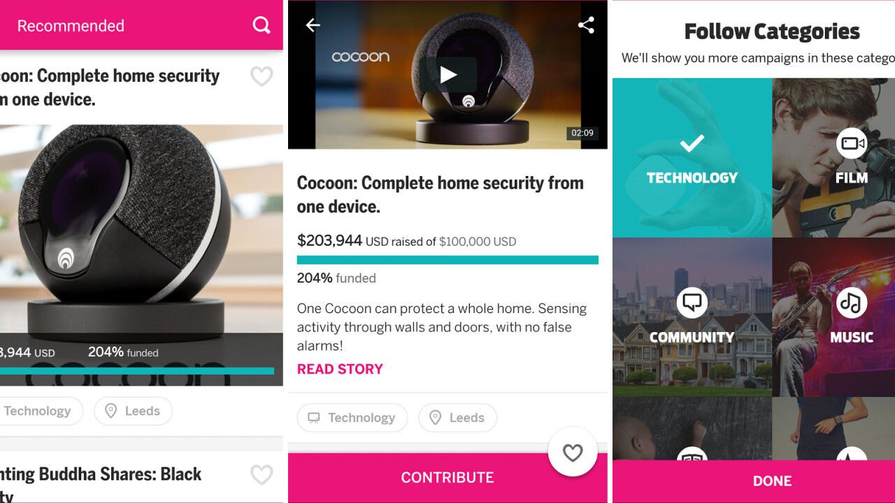 Indiegogo's first app for Android devices is now available to download