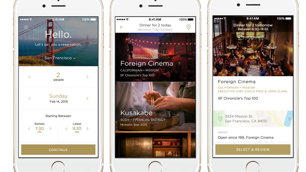 Uber-for-restaurant app Reserve launches in San Francisco