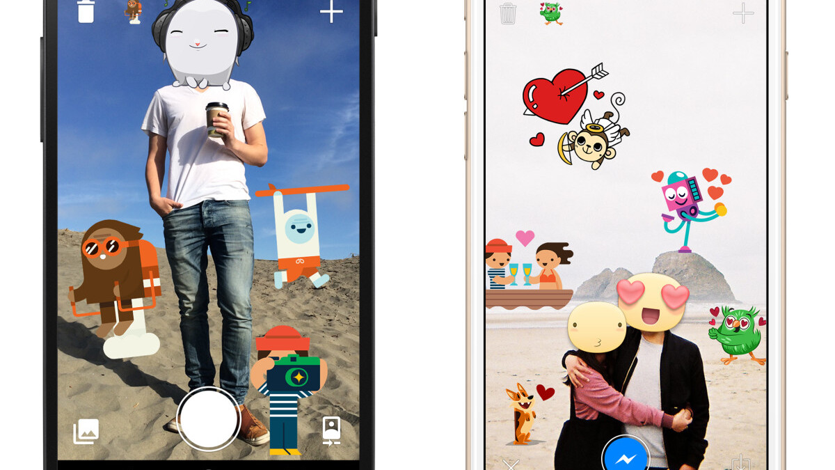 Facebook's crazy sticker app is now available for iOS