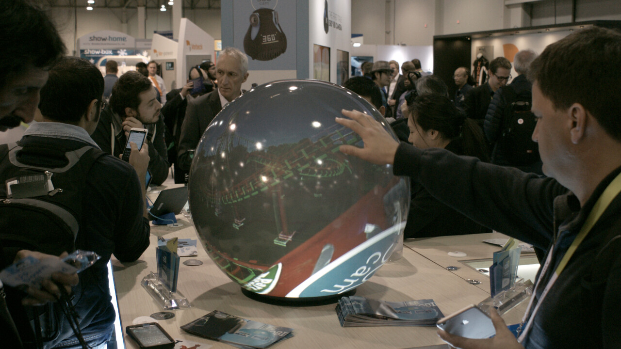 The PufferSphere M ball display is the non-headset way to see 360 degree videos