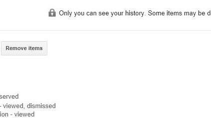 You can now remove Google Now Card data from your Google History