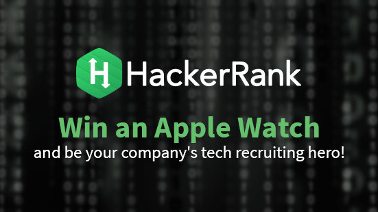 Win an Apple Watch and be your company's tech recruiting hero!