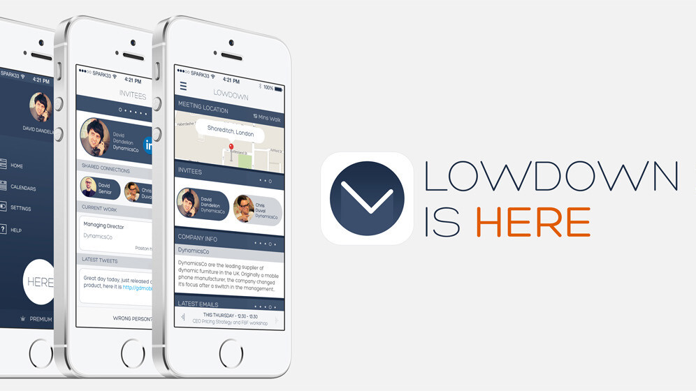 Lowdown's iPhone app for smarter meetings goes free and includes its HERE notification service