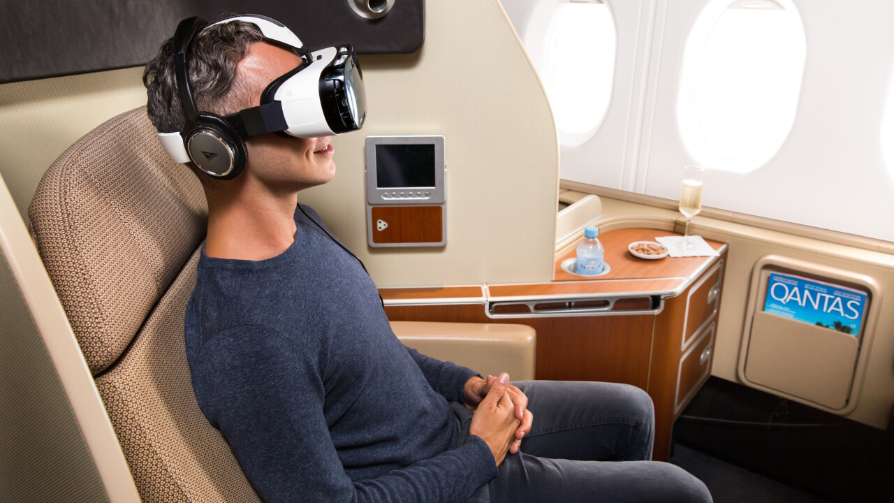 Samsung's Gear VR will provide in-flight entertainment for first-class Qantas passengers