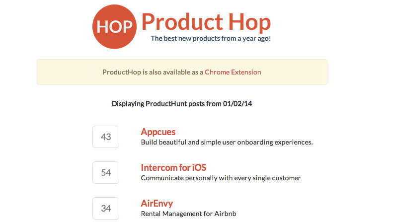 ProductHop: Time travel to revisit Product Hunt's best ideas a year on