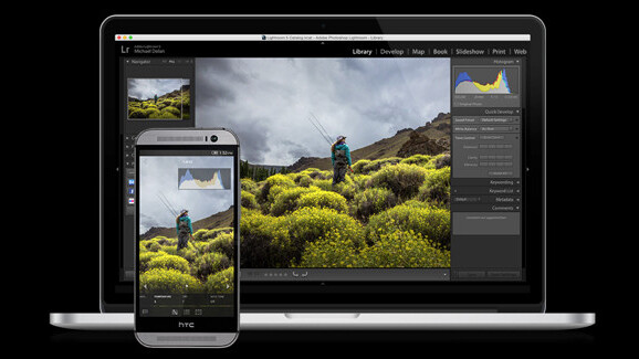 Adobe's new Lightroom Mobile for Android phones works almost the same as the iPhone app; a tablet version would be ideal
