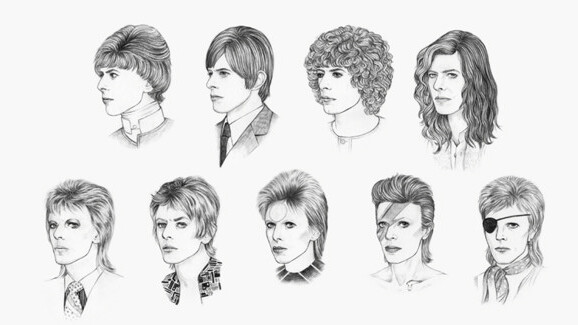 David Bowie's hair styles through the years offer a unique view into his artistic personas