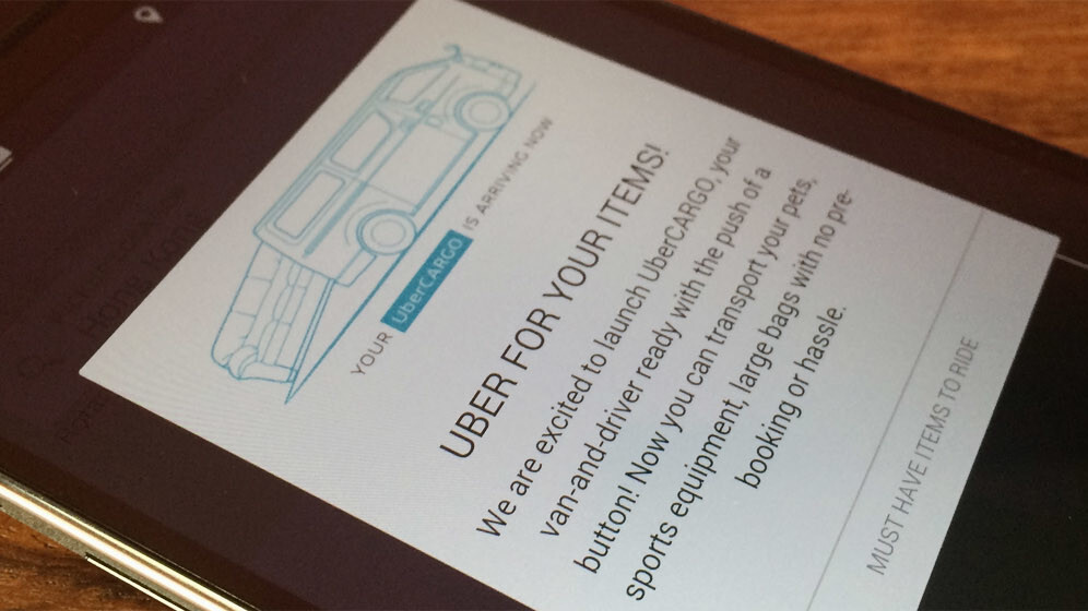UberCARGO lets you transport your stuff and fulfill deliveries with a van in Hong Kong