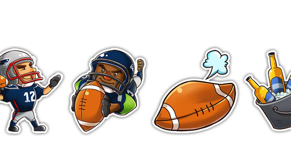 Super Bowl emoji sticker set gets you into the team spirit