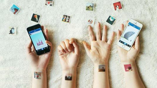 Transform your Instagram photos into mini tattoos and pocket printed albums