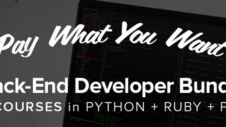 Pay what you want for the Back-End Developer Bundle