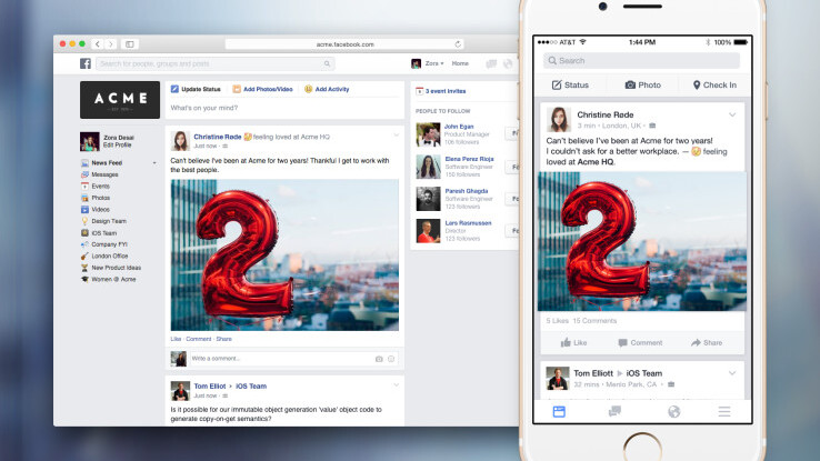 Facebook launches Facebook At Work… but you probably won't be able to try it yet