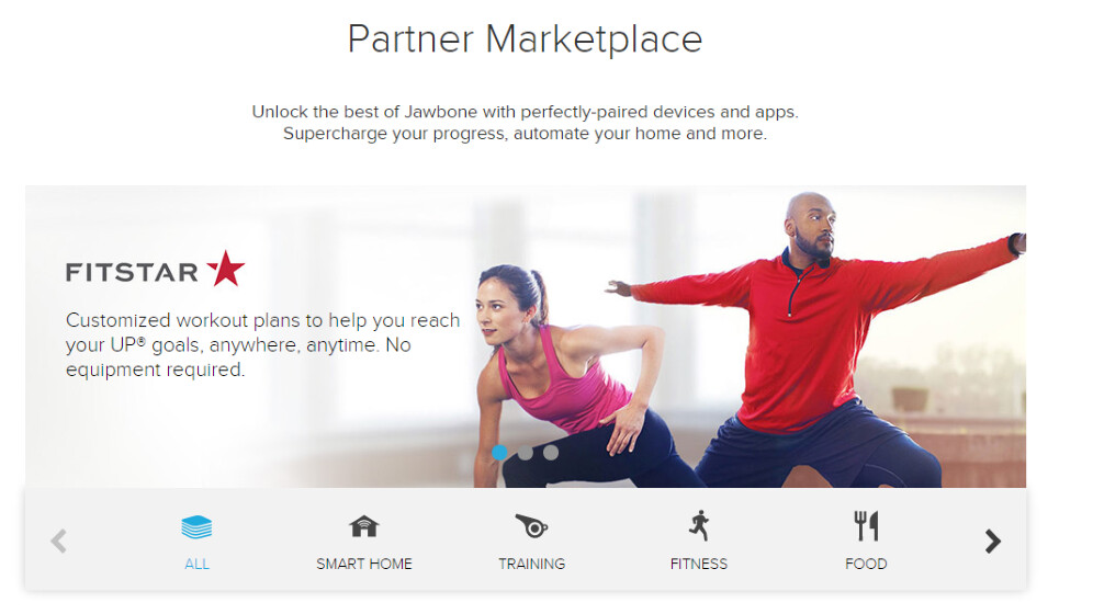 Jawbone launches Partner Marketplace for third-party apps and services in the US
