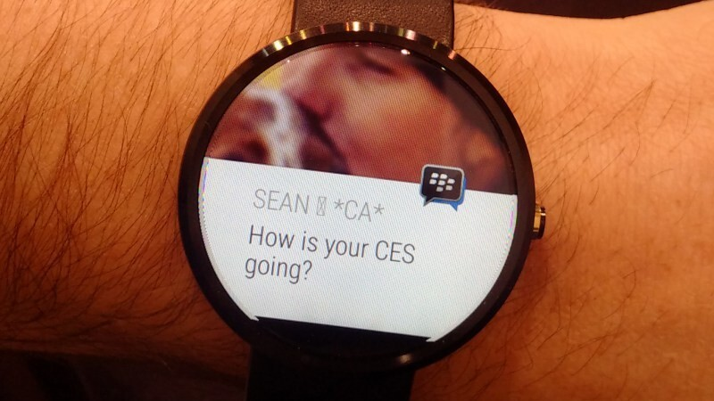 BlackBerry shows off BBM for Android Wear devices at CES
